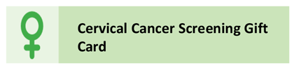 Cervical Cancer Screening Gift Card
